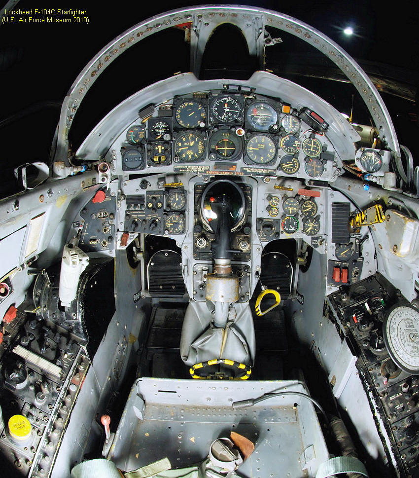 f 104c starfighter cockpit - 637×800