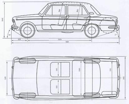 Схема автомобиля ВАЗ-2103 «